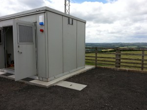 Telecoms cabin in place