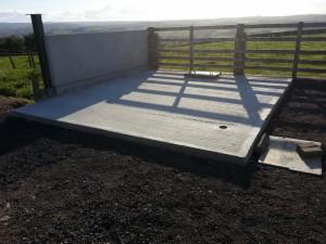Concrete base now ready